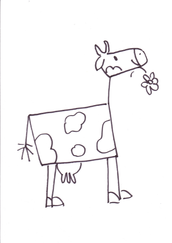 Gross A2 Kuh Wandschablone Vorlage Ws00015178